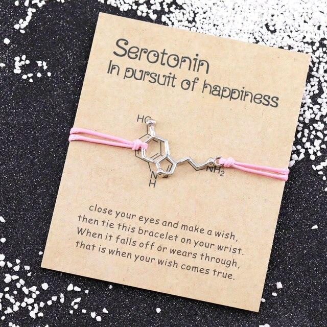 5-HT Serotonin Molecule Bracelet 4