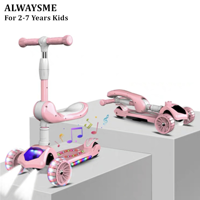 Alwaysme Child Kids Baby Scooter & Balance Bike For Ages 24-72 Months Excellent Quality