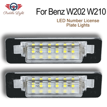 2x 18SMD CAN-bus LED Number License Plate Light For Mercedes-Benz W202 C230 C280 C43 AMG W210 E300 E320 E420 E430 E55 AMG