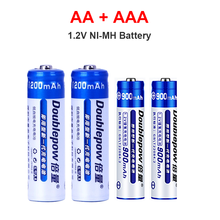 NEW AA + AAA rechargeable NI-MH battery AA 1.2V 1200mAh/1.2V AAA900mAh rechargeable batteries for Electric toy battery