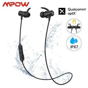 Image 1 - Mpow S11 APTX Bluetooth 5,0 Kopfhörer Magnetische Design IPX7 Wateproof 9H Spielen Zeit CVC 6,0 Noise Reduktion Für Sport smartPhone