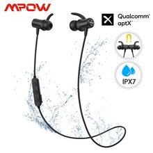 Mpow s11 aptx bluetooth 5.0 fone de ouvido design magnético ipx7 wateproof 9 h tempo de jogo cvc6.0 redução de ruído para esportes smartphone