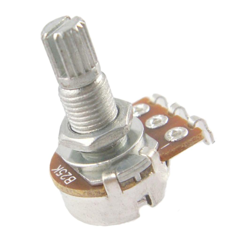 Potenciómetro de guitarra 10 Uds B25K para piezas de repuesto para bajo de guitarra eléctrica