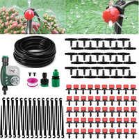 25m jardin bricolage Micro système d'irrigation goutte à goutte usine automatique arrosage minuterie jardin tuyau Kits avec goutteur réglable