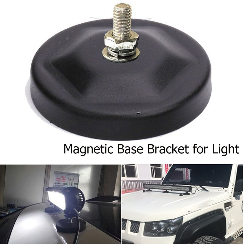 Magnet Car Truck Light Mounts Bracket Led Light Bar Roof Sucker Stand Base For Off Road Head Spot Light