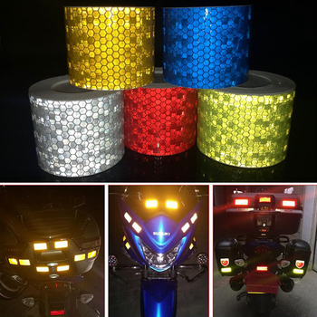цена на 5cm*1m Bike Body Reflective Safety Stickers Reflective Safety Warning Conspicuity Tape Film Sticker Strip Bicycle Accessories