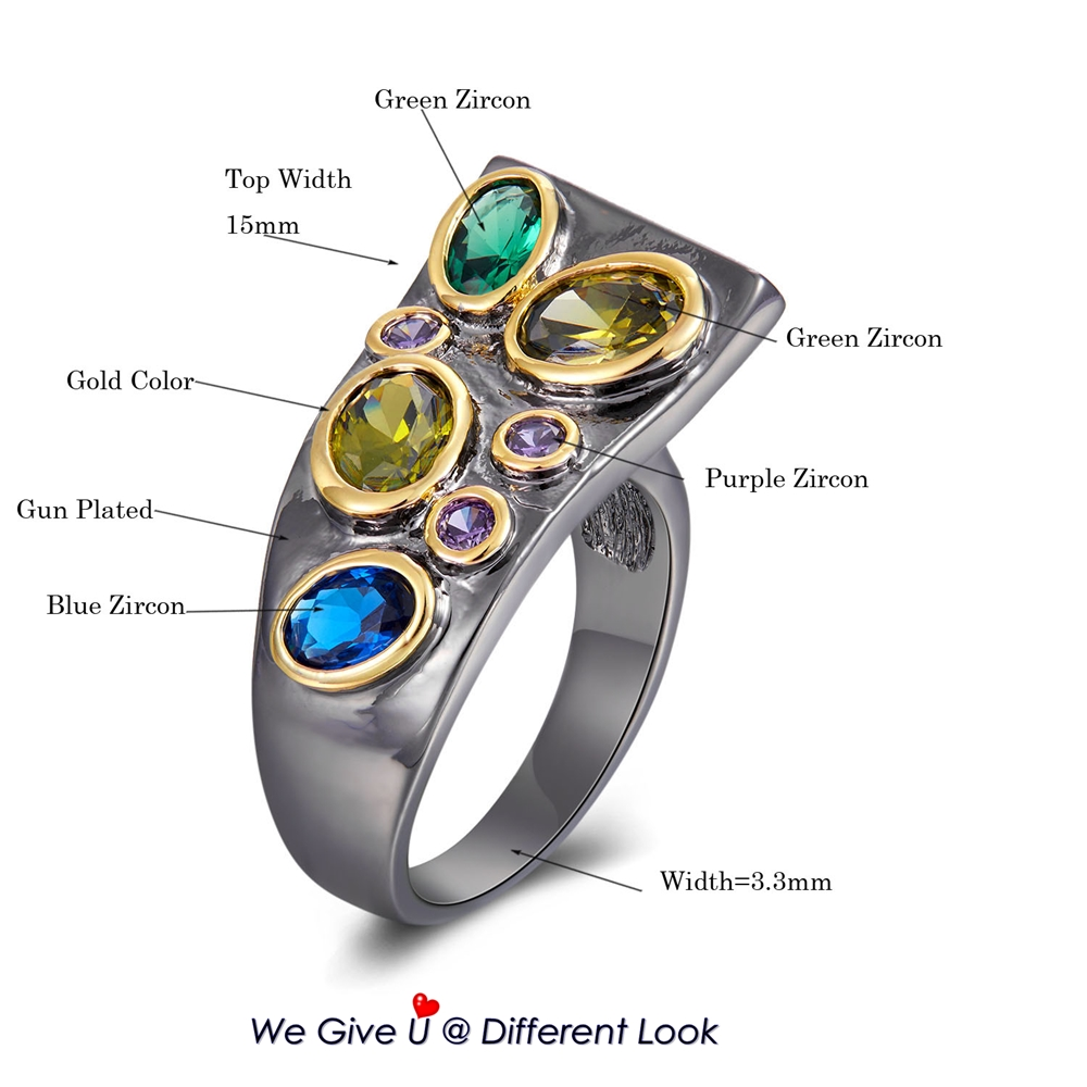WA11784 DreamCarnival New Original CZ Rings for Women Dazzling Multi-Colors Zircon Creative Gothic Wedding Anniversary Ring Hot (12)