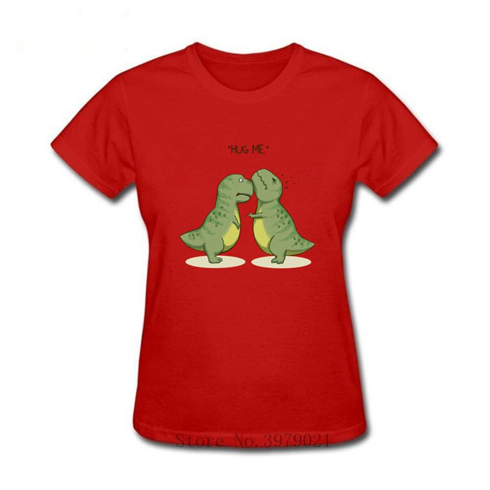 Dinosaurs <font><b>hug</b></font> <font><b>me</b></font> Women short sleeve <font><b>TShirt</b></font> Vogue Tumblr Harajuku Fashion Short Sleeve Streetwear Cotton Anime tee tops image