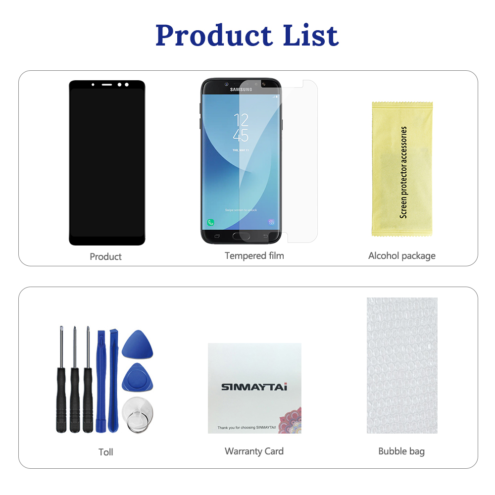 """Image 5 - Original For 5.6"""" Samsung A8 2018 A530 LCD Display Screen+Touch Screen Panel Digitizer Assembly Replacement-in Mobile Phone LCD Screens from Cellphones & Telecommunications"""