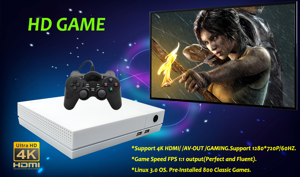ANBERNIC HD 4GB Video Game Console Built In 800 Classic Games For PS1/GBA/FC Maximum to 32 GB Retro Game Console PS1 Games HDMI