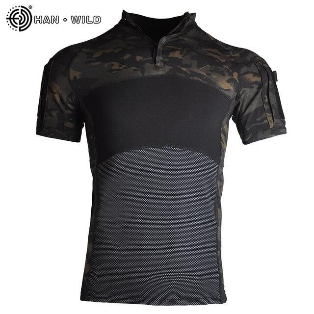 Фото военная армейская футболка мужская камуфляжная тактическая рубашка