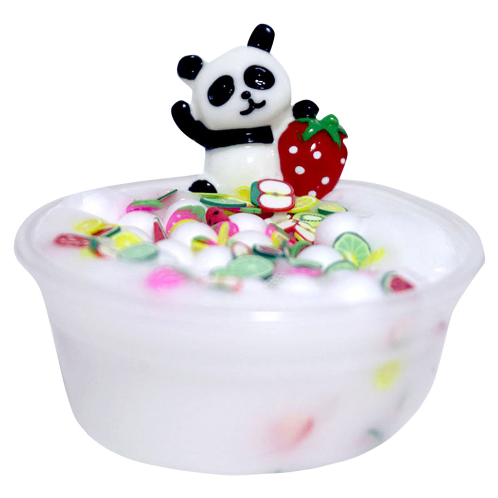 Children's Toys Slime Mud Decompression Toys Panda Beads Slime Clay Sludge Toy Kids Adult Stress Relief Plasticin Toys Gift