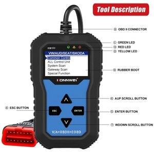 Image 5 - KW350 Professional OBD2 Scanner Auto Code Reader For VW For Audi For Skoda Diagnostic Check Engine Light Scan Tool