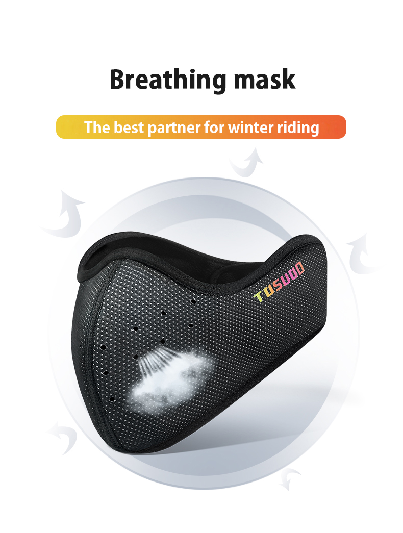 H21f9a7f0f20c4dbea34b0d52ead5b8ddM TOSUOD winter sport face cover bike cycling running mask ski mask facemask  Keep warm Breathable  Cycling Equipment