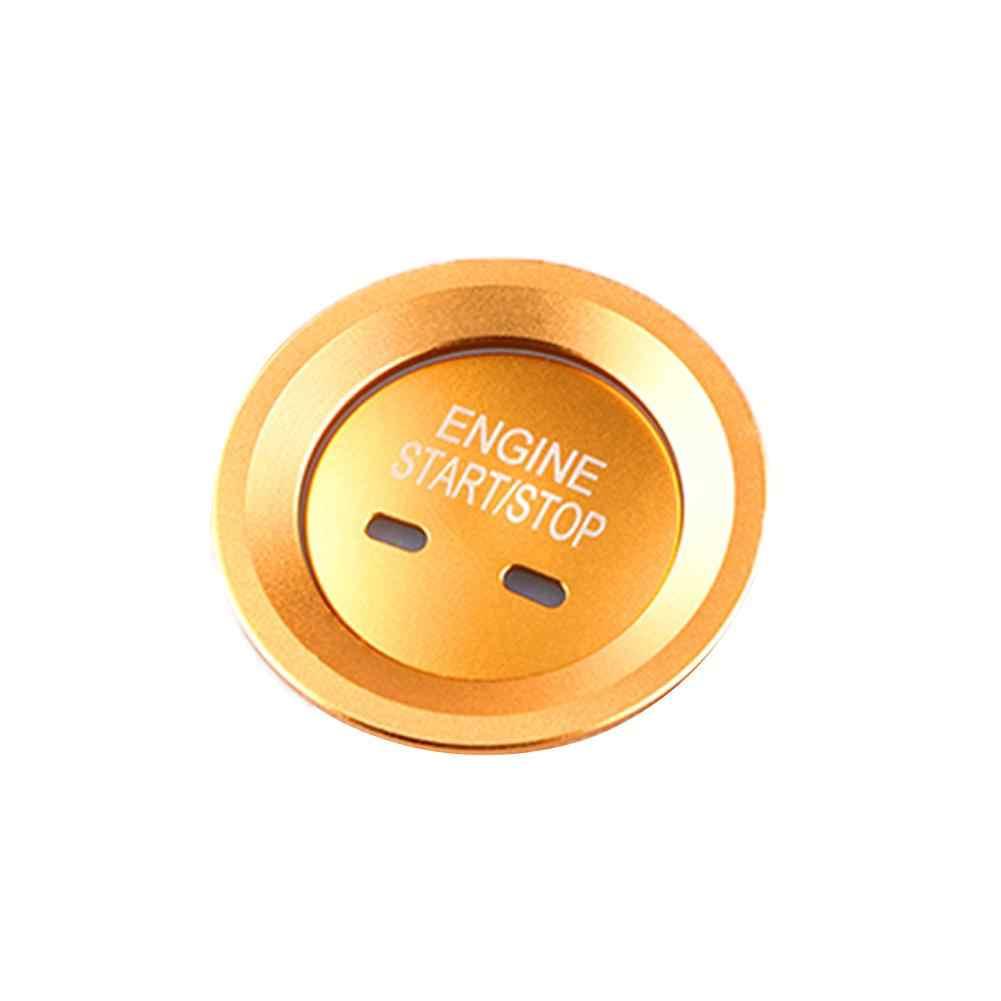 Voiture autocollants voiture moteur démarrage bouton d'arrêt couvercle système sans clé interrupteur d'allumage couvercle autocollant Auto intérieur accessoires