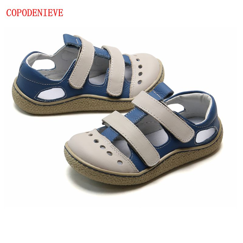 COPODENIEVE Fashion  Sandals Soft Breathable Cool Comfortable Kids Children Male  Leather Casual Kids Sandals  Little Girl Shoes
