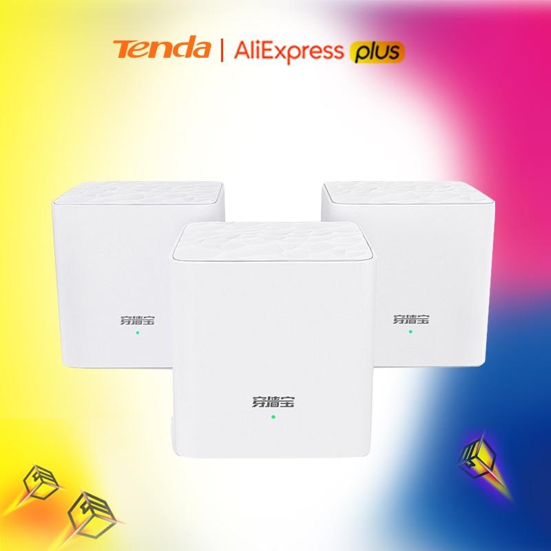 Tenda MW3 полностью домашняя сеточная беспроводная WiFi Расширительная система 11AC 2,4G/5,0 GHz Двухдиапазонная 1167Mbps WiFi беспроводной маршрутизатор и р...