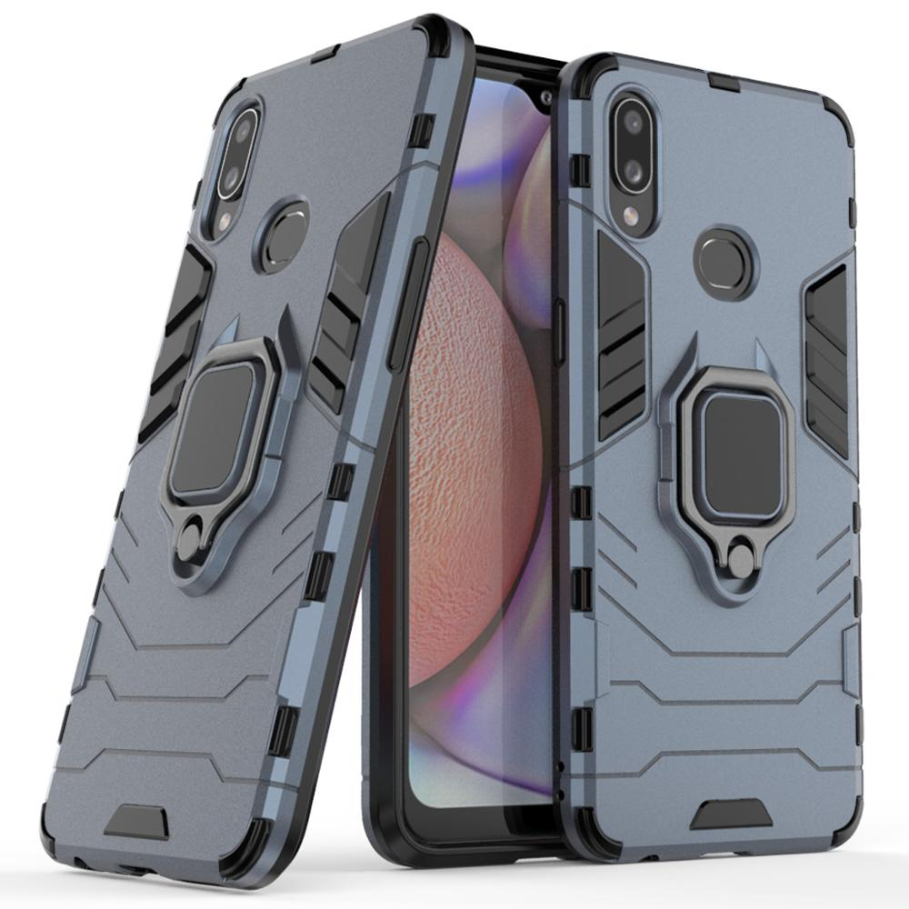 For Samsung Galaxy A10s case shockproof metal finger ring holder stand hybrid hard cover TPU bumper sfor Galaxy A 10s 2019 <font><b>A107F</b></font> image