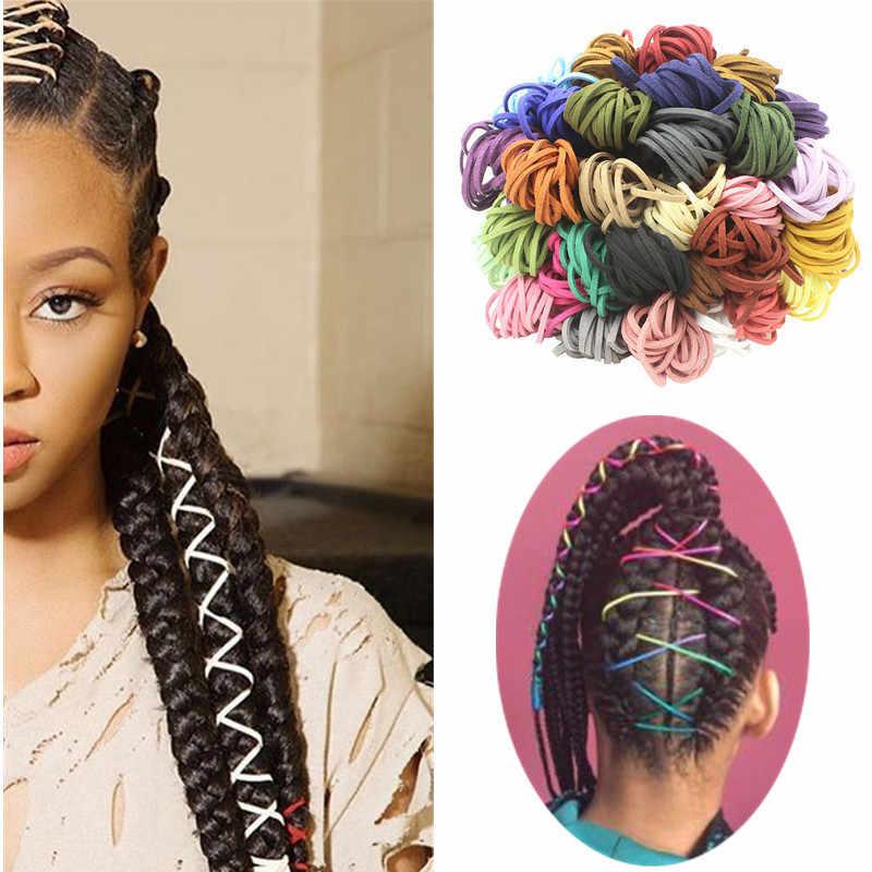 Reggae Braided วิธีเชือกกำมะหยี่กวาง Hip-Hop สไตล์วันหยุดอุปกรณ์เสริมผม Braid Braided Hair TOOL 2.8mm ยาว 5 M 18 สี