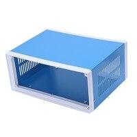 9 8 pulgadas x 7 5 pulgadas x 4 3 pulgadas caja de empalme de Metal azul caja de proyecto DIY|Terminales| |  -