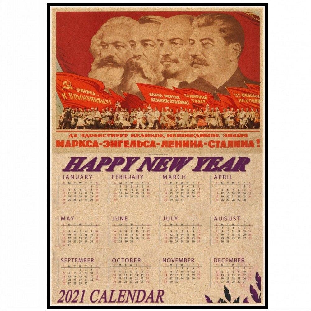 Cartel de calendario de la II Guerra Mundial, ruso, compañero