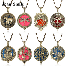 Aromatherapy Jewelry Locket Necklace Tree of Life Essential Oil Diffuser Perfume Aroma Christmas Gift