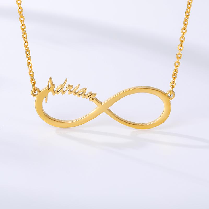 Customized Stainless Steel Infinity Name Necklace Boho Jewelry Personalized Heart Infinity Necklace Bridesmaid Gifts 2