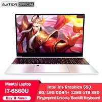AUKTION-ordenador portátil de 15,6 pulgadas 1080P, procesador Intel Core i7-6560U, 8G/16G, DDR4, Windows 10, desbloqueo de huella dactilar