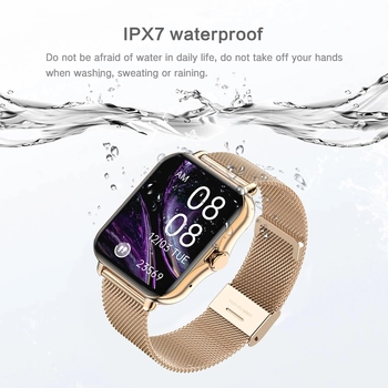 2021 Bluetooth-compatibleAnswer Call Smart Watch Women Men Full Touch Dial Call Fitness Tracker IP67 Waterproof Smartwatch women 4