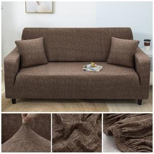 Image 1 - Motif croisé housse de canapé ensemble de coton élastique housse de canapé housse de canapé pour salon animaux cubre canapé canapé serviette 1/2/3/4 places 1PC
