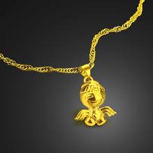 Woman fashion angel necklace Christmas gifts/gold color charm necklace/gold jewelry wholesale pendant
