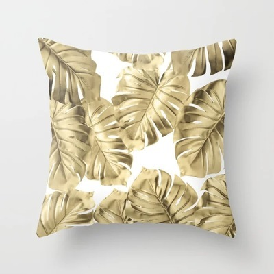 Black Tropical Cushion Cover  2
