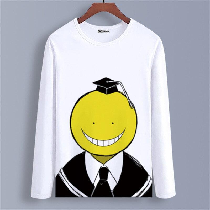 Assassination Classroom Manga Larga Camiseta Camiseta de Manga Larga de algod/ón Transpirable y c/ómoda Sudadera Informal Unisex
