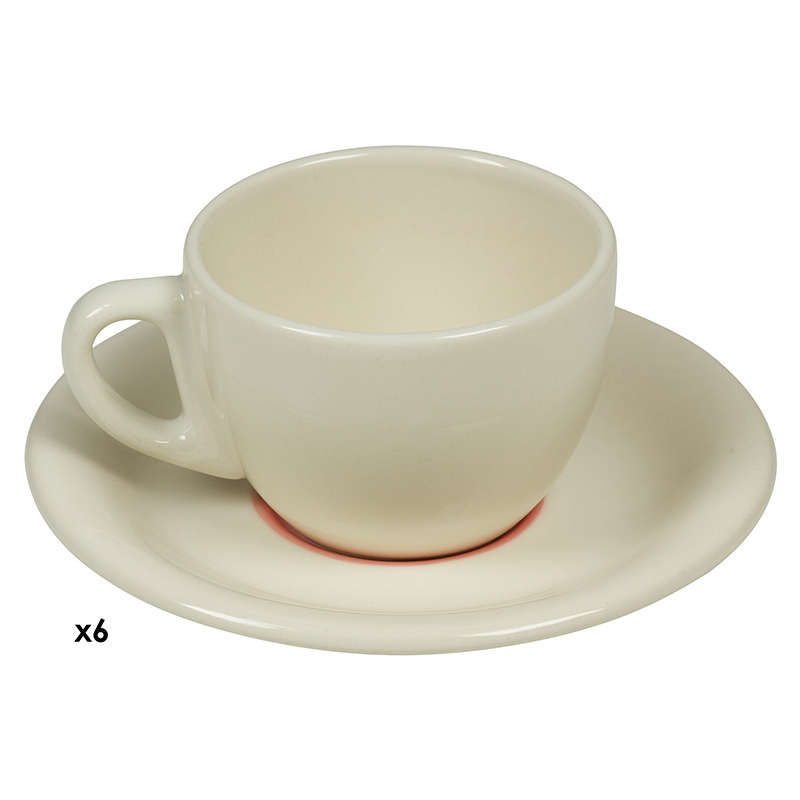 Juego de Café (12 pcs) Loza Rojo