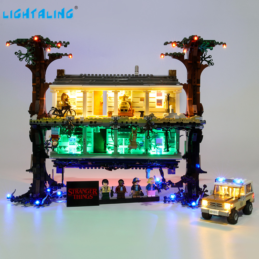 Lightaling Led Light Kit For Stranger Things The Upside Down Building Blocks Compatible With 75810 ( Lighting Set Only )