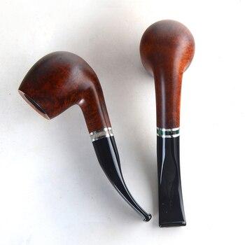 Briar pipes tobacco smoking pipe smooth finish 9mm filter bent pipe shape #CK1007 ганг сумка briar 3х16х25 см