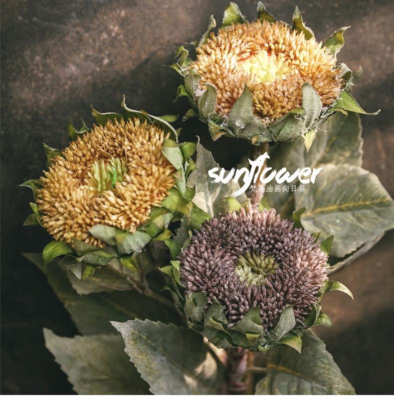 1Pcs Artificial Sunflower Fake Flower High Quality Simulation Silk Sunflower For Wedding Home Christmas Decoration QW16 (5)