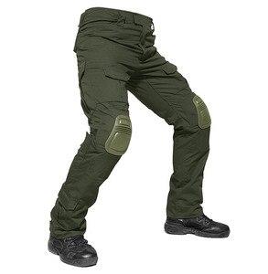 Image 2 - 위장 전술 복장 무릎 패드와 군사 바지 남자 전술화물 바지 군인 미국 육군 바지 Paintball Airsoft