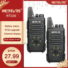 2pcs RETEVIS RT22S Handsfree Walkie Talkie RT22 Upgrade VOX Hidden Display Two Way Radio Two-way Radio Transceiver Walkie-talkie