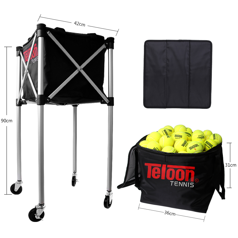 Teloon Professional Tennis Ball Pick Up Basket Big Capacity Can Hold 180pcs Balls Picker For Training K048SPA