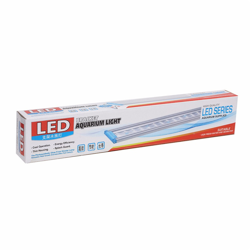 Super Slim Aquarium LED Lighting Aquatic Plant Growing Light 18-58cm Extensible Waterproof Clip-on Lamp For Fish Tank9