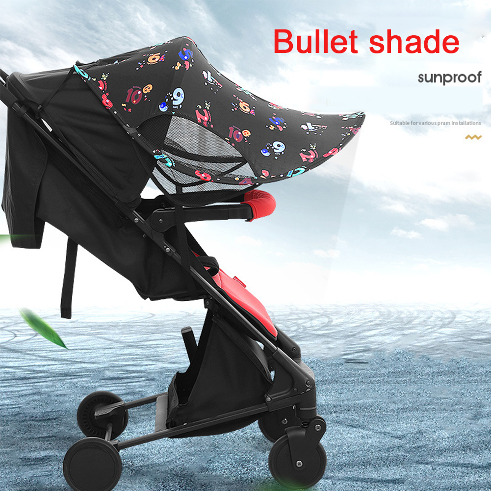Easy Installation Awning Umbrella Canopy For Baby Stroller Sun Shade Waterproof Universal UV Protection Pushchair Cap Car Tent