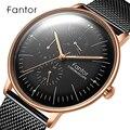 Новый Fantor Роскошный топ бренд мужские s часы Мужские кварцевые часы водонепроницаемые часы изогнутые сетчатые латунные Высококачественные...