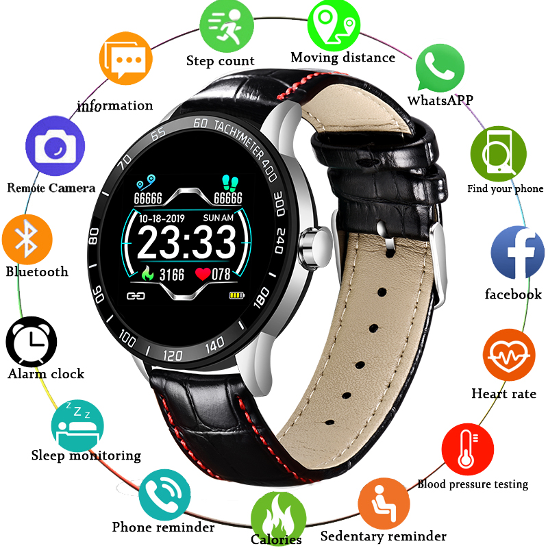 LIGE <font><b>2019</b></font> <font><b>New</b></font> <font><b>Smart</b></font> <font><b>Watch</b></font> Men Heart Rate Blood Pressure Fitness Tracker Sport <font><b>Watch</b></font> IP67 Waterproof Smartwatch Pedometer+Box image