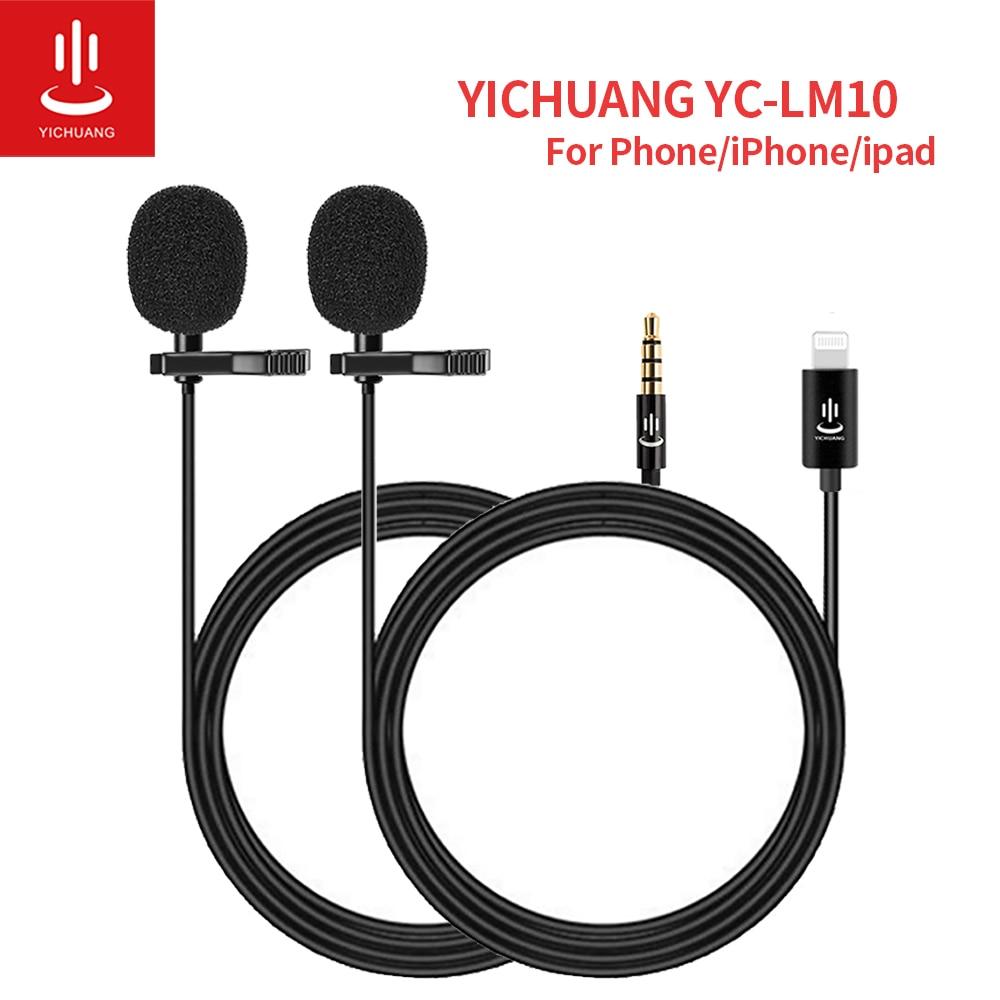 YICHUANG YC LM10 отворот Lavalier микрофон клип на рубашке Воротник микрофон молния микрофон 1,5 м для iPhone iPad Huawei Sumsang|Микрофоны|   | АлиЭкспресс