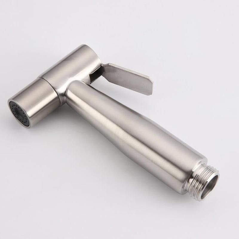 Stainless Steel Bathroom Toilet Hand-held Booster Spray Gun Small Shower Water Saving Bathroom Spray Bathroom Shower Head