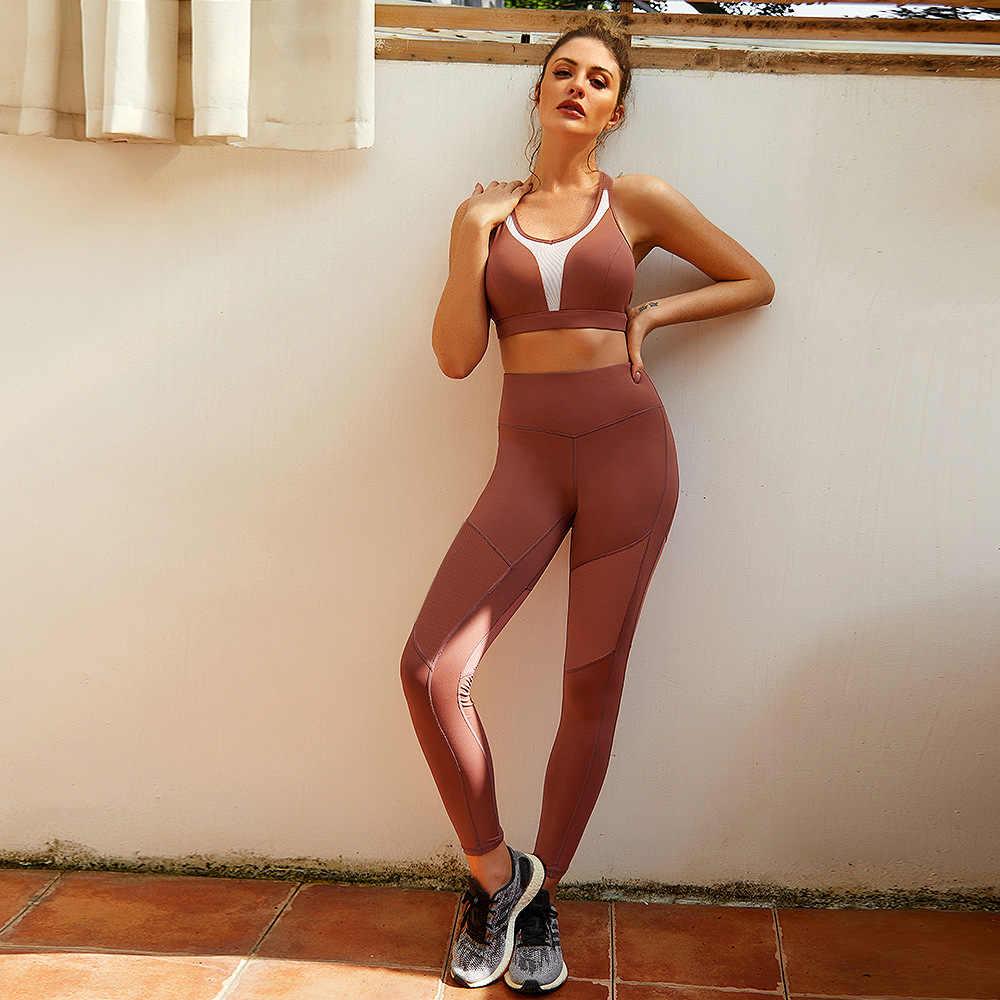 Vutru conjunto de Yoga para mujer, conjunto de 2 piezas, Leggings de cintura alta y Sujetador deportivo, traje de Yoga para gimnasio