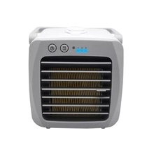 Mini USB Portable Air Cooler Fan Air Conditioner Light Desktop Air Cooling Fan Humidifier Purifier for Office