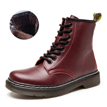 Women Boots Genuine Leather Ankle Female Winter Autumn Womens Shoes Booties