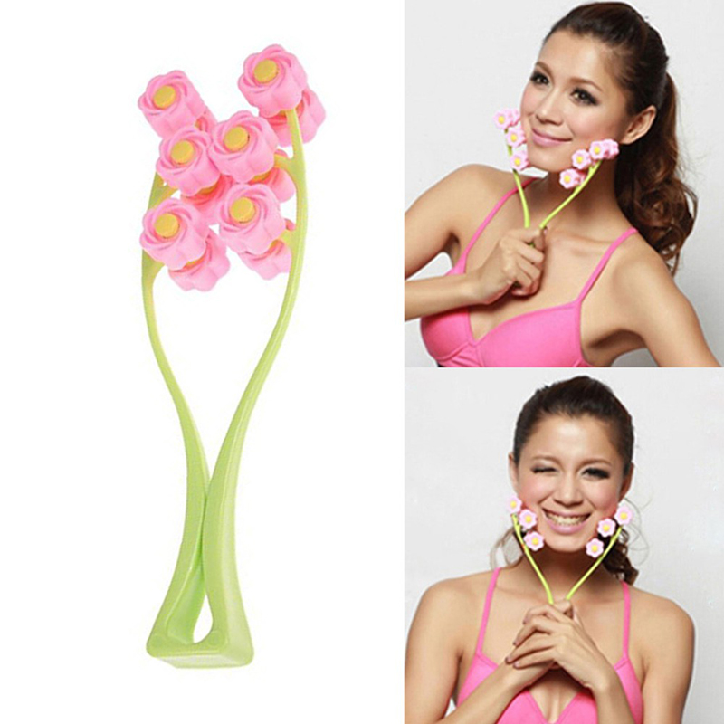 Face Lift Massage Roller Flower Shape Facial Massager Anti Fatigue Thin Face Shaper Relaxation  Beauty Health Care Tools